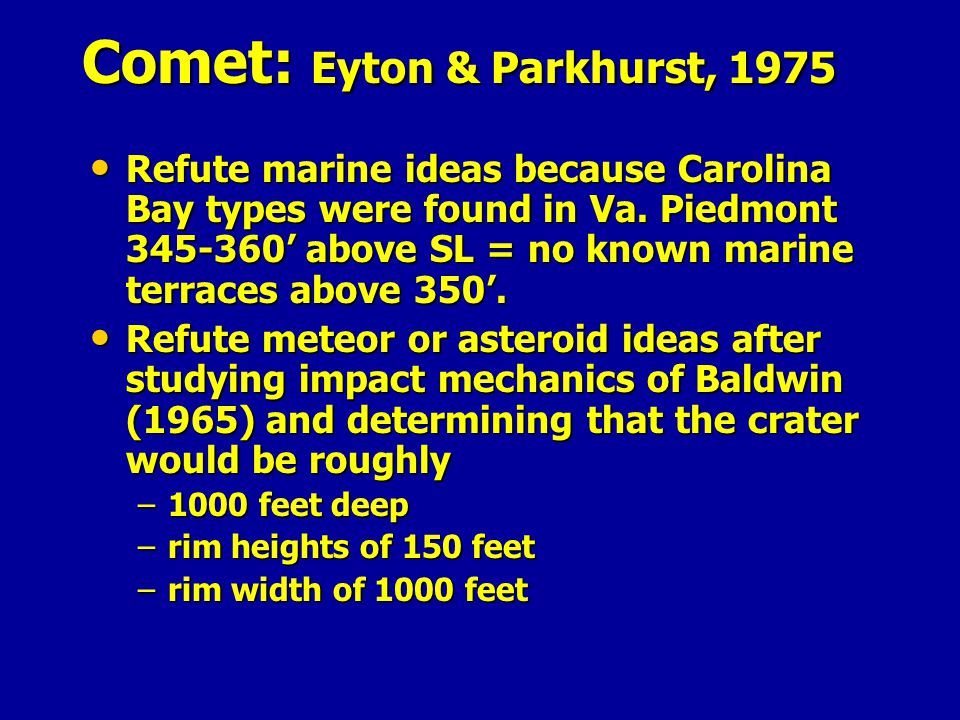 Comet: Eyton & Parkhurst, 1975