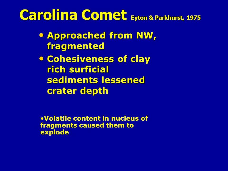 Carolina Comet Eyton & Parkhurst, 1975