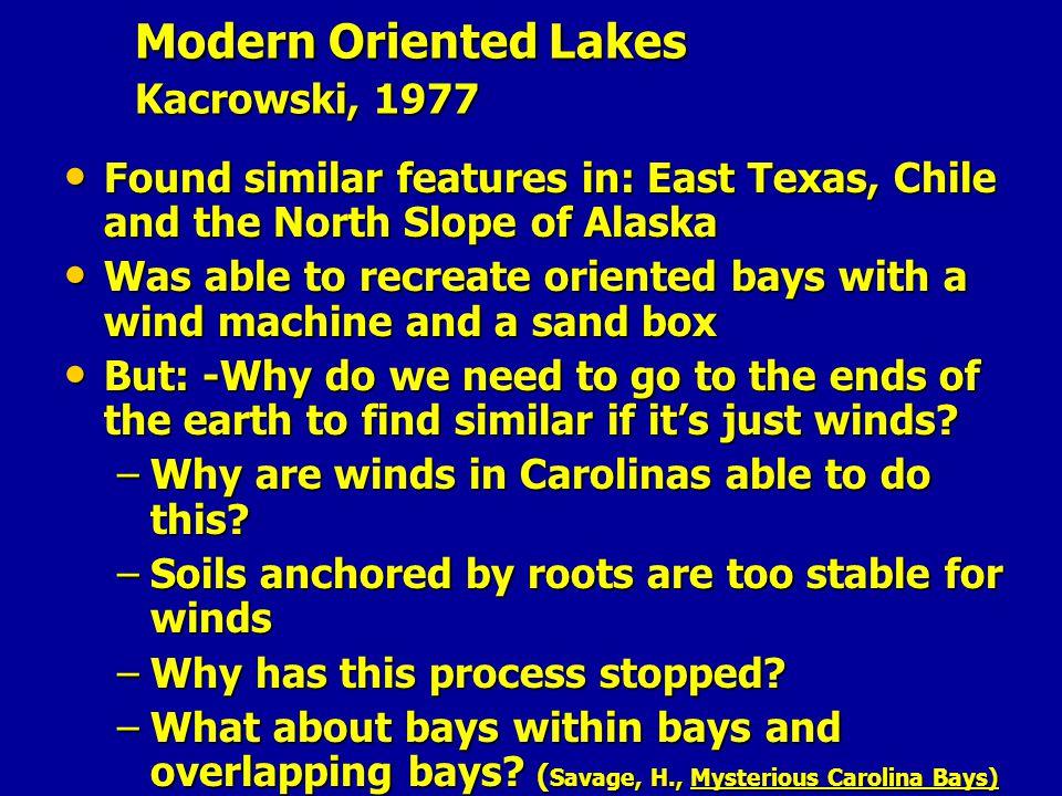 Modern Oriented Lakes Kacrowski, 1977