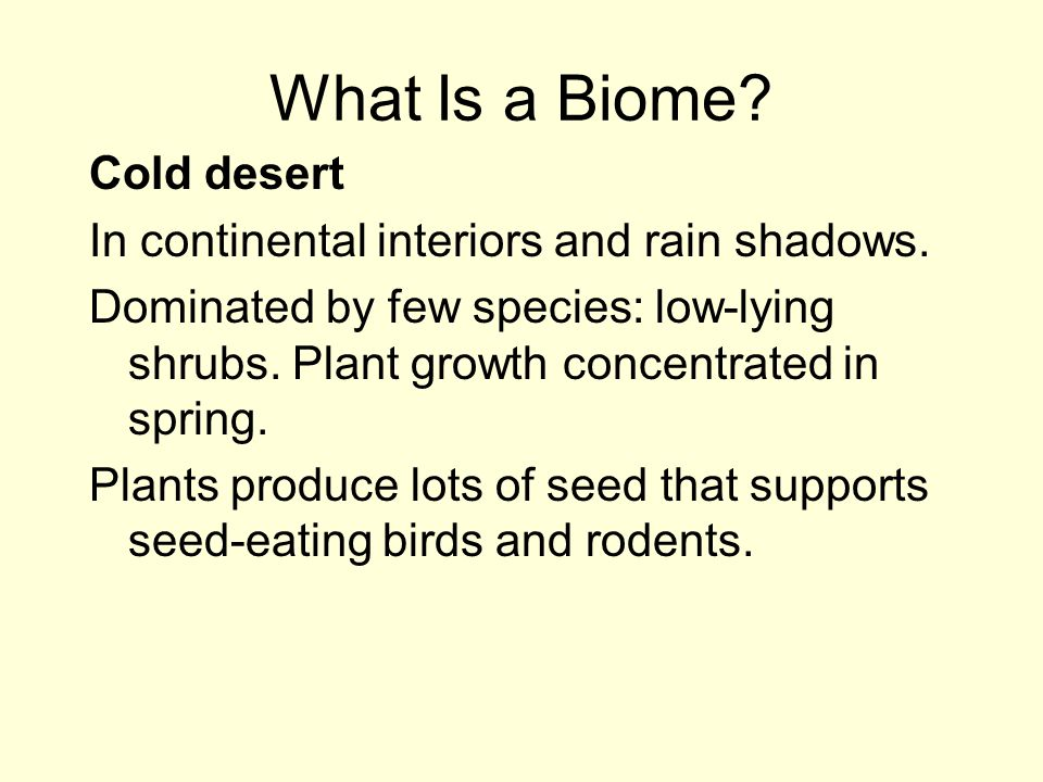 What Is a Biome Cold desert