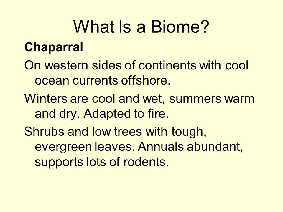 What Is a Biome Chaparral