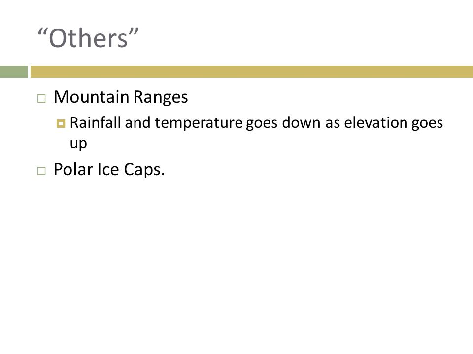 Others Mountain Ranges Polar Ice Caps.