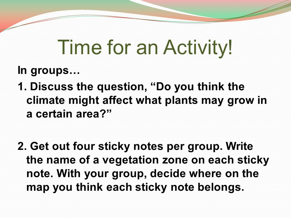 Time for an Activity!