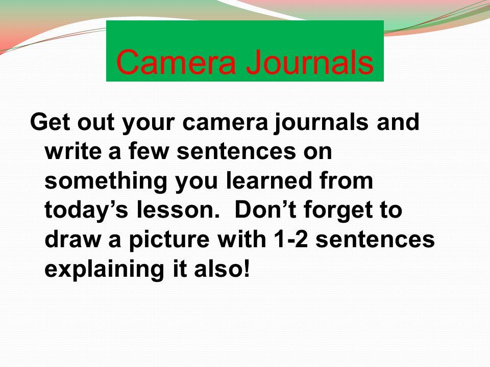 Camera Journals