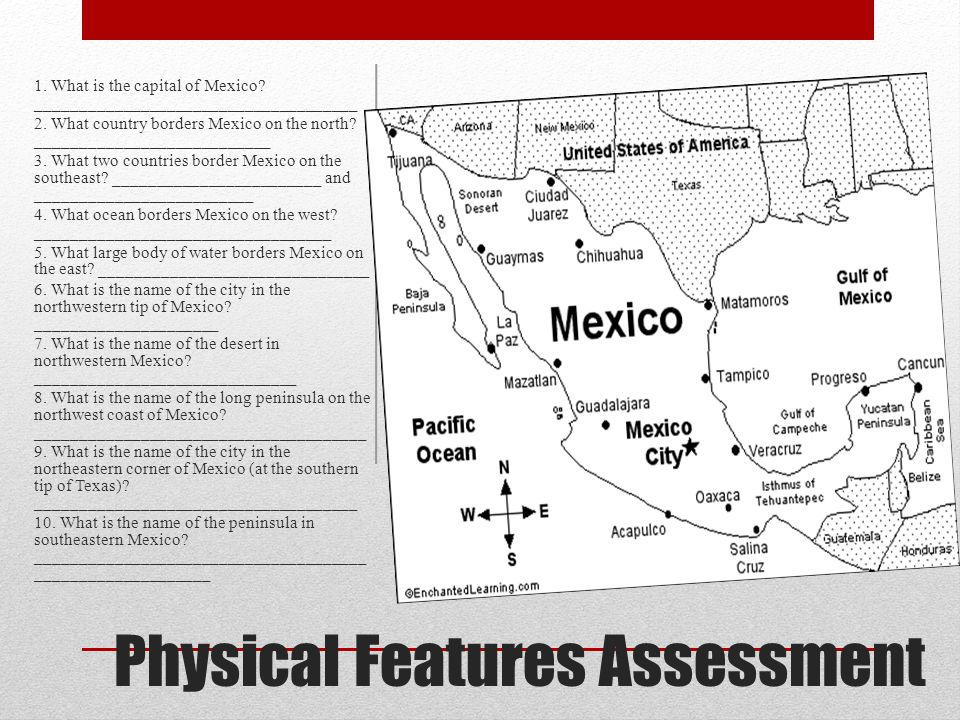 Physical Features Assessment