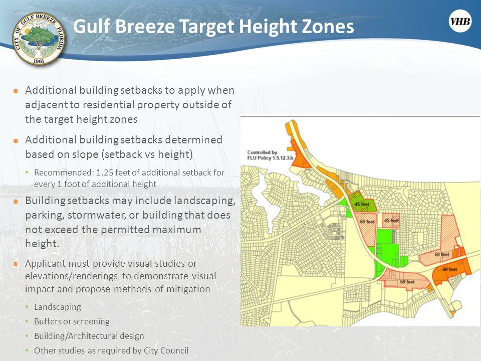 Gulf Breeze Target Height Zones