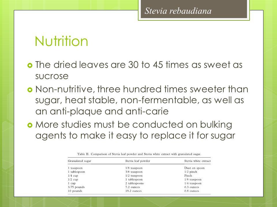 Nutrition Stevia rebaudiana