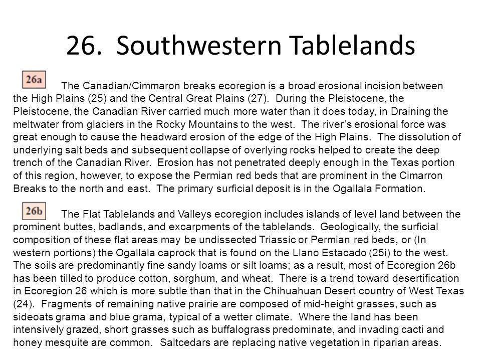 26. Southwestern Tablelands