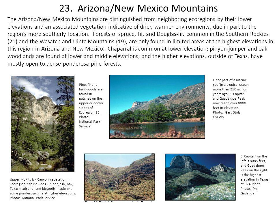 23. Arizona/New Mexico Mountains