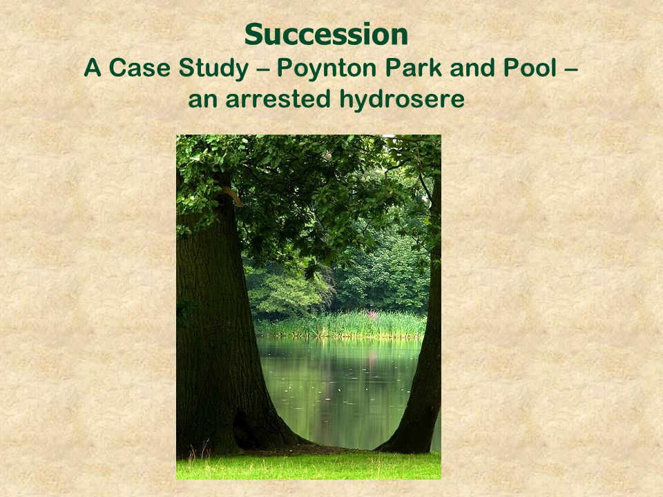 Succession A Case Study – Poynton Park and Pool – an arrested hydrosere