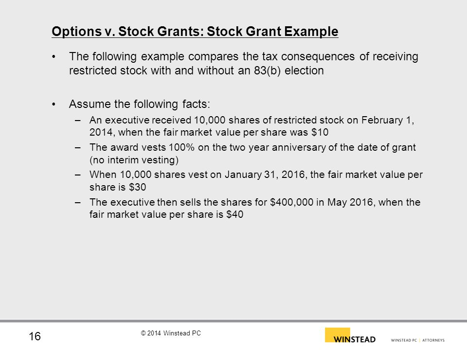 Mega grant stock options