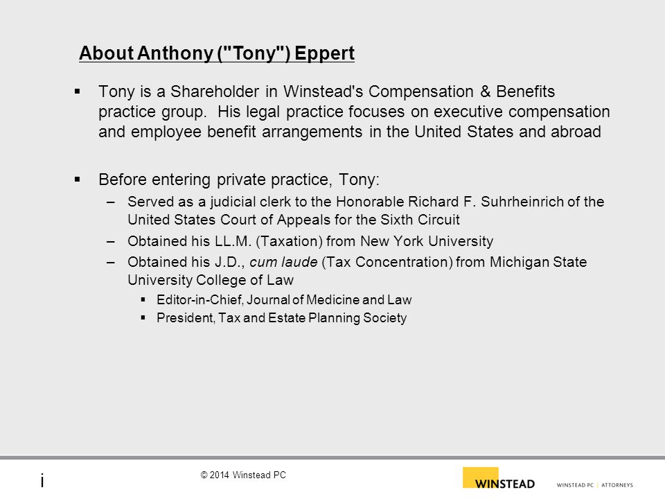 About Anthony ( Tony ) Eppert