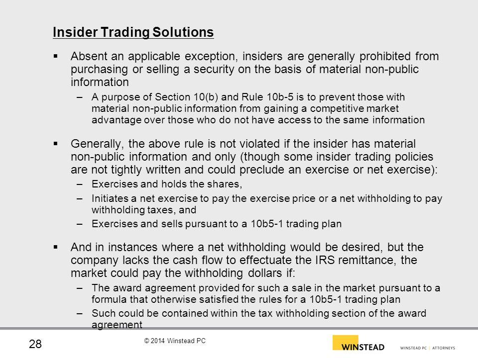 Insider Trading Solutions