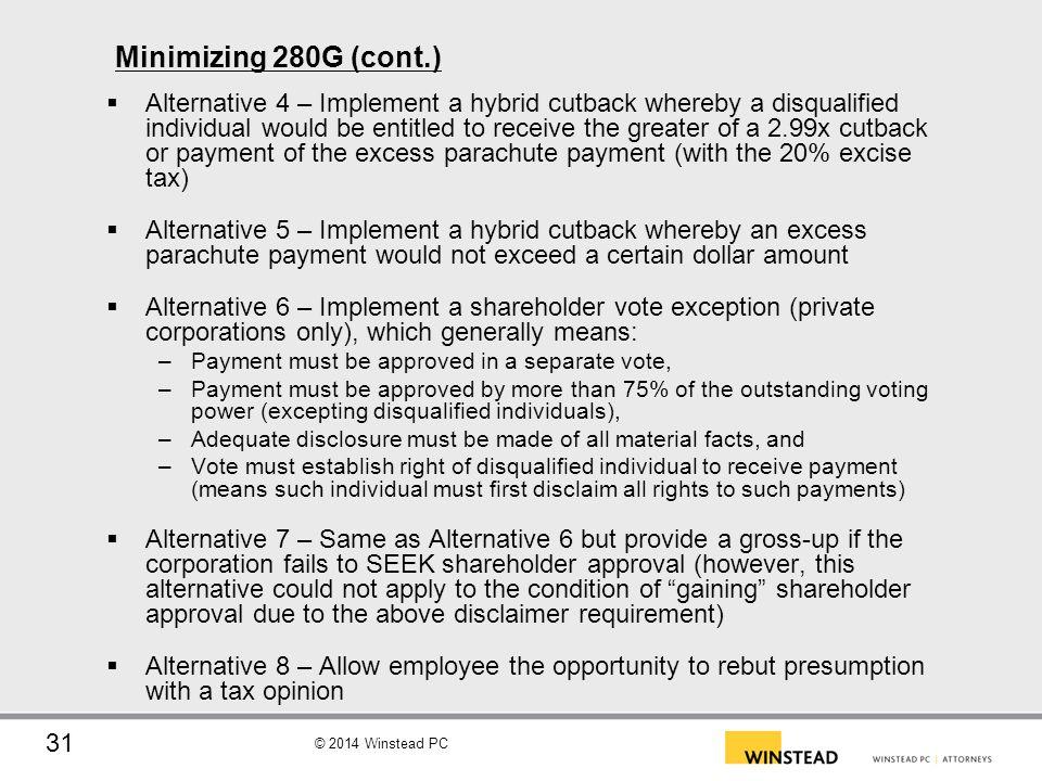 Minimizing 280G (cont.)