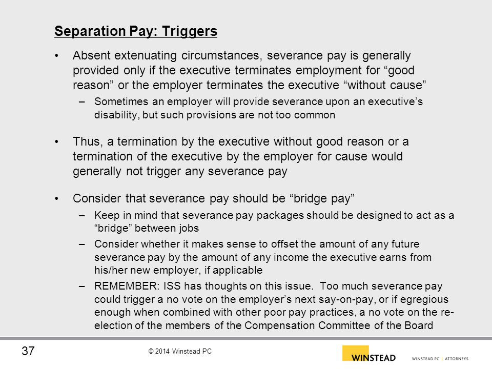 Separation Pay: Triggers