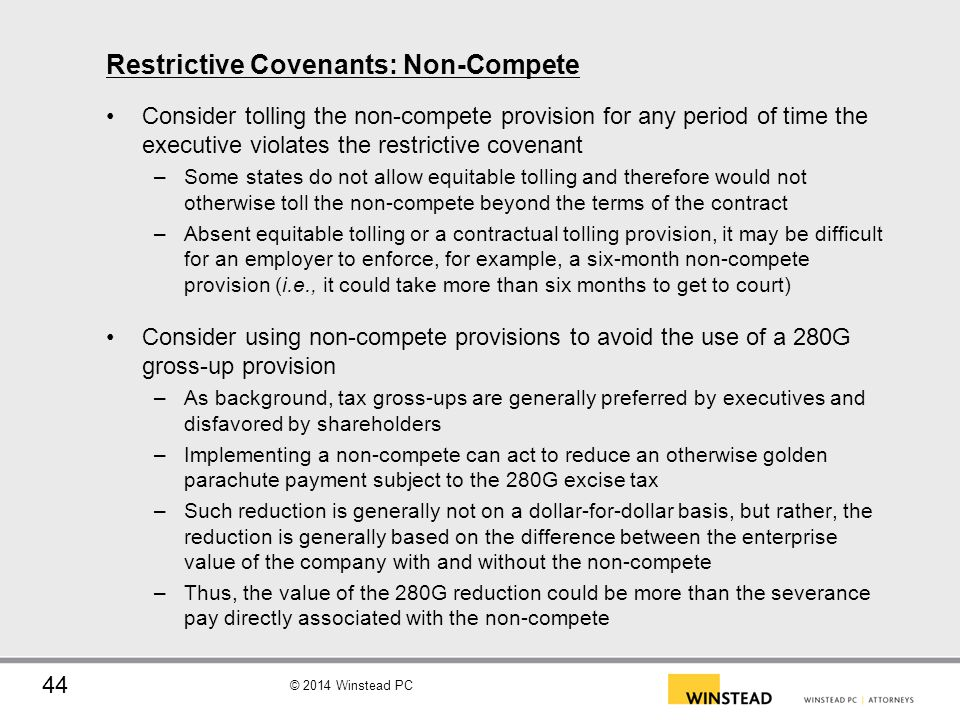 Restrictive Covenants: Non-Compete