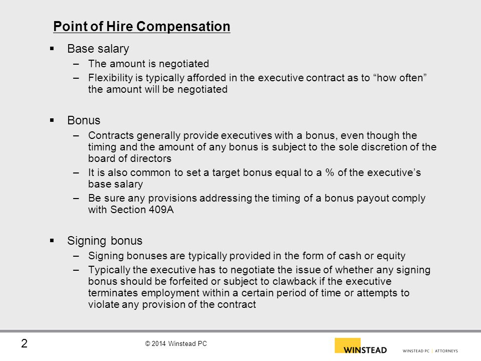 Point of Hire Compensation