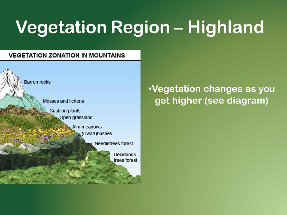 Vegetation Region – Highland