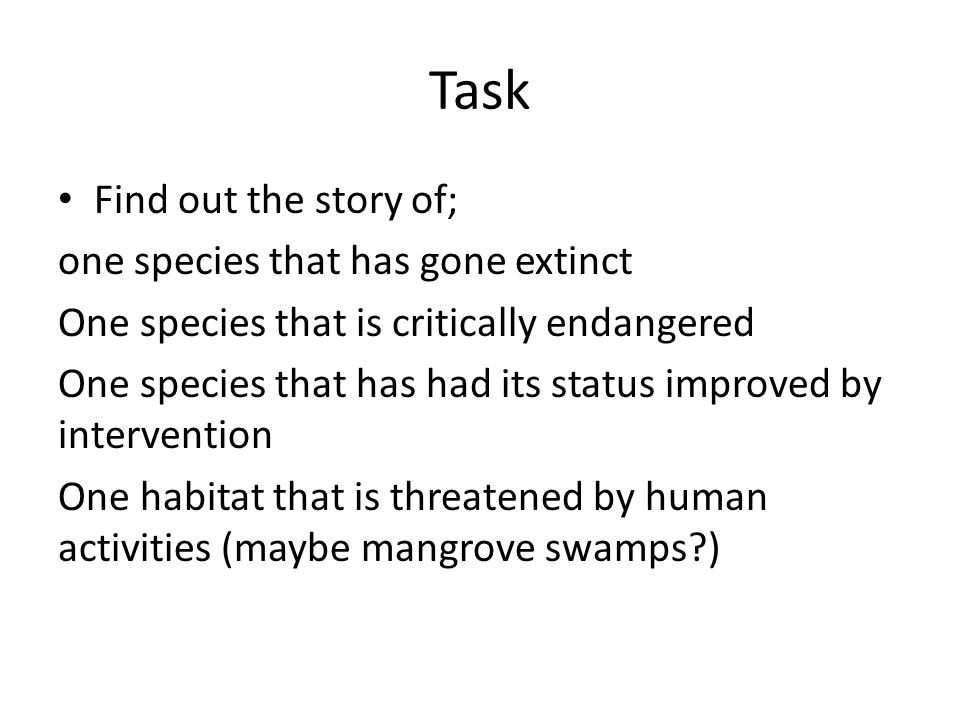 Task Find out the story of; one species that has gone extinct