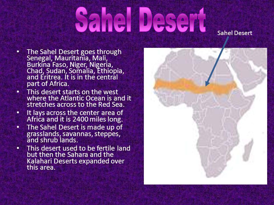 Sahel Desert Sahel Desert.