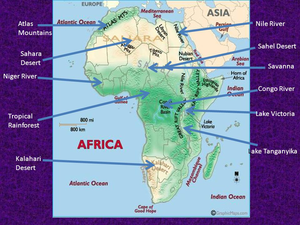 Geography of Africa  Worldatlascom  World Map  World