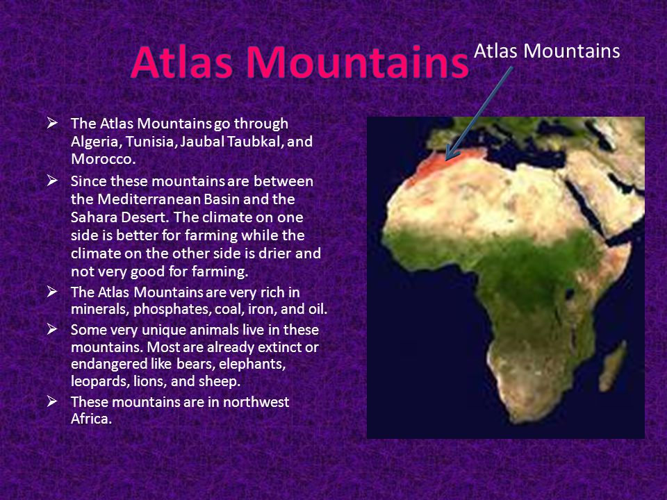 Atlas Mountains Atlas Mountains