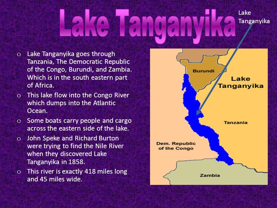 Lake Tanganyika Lake Tanganyika.