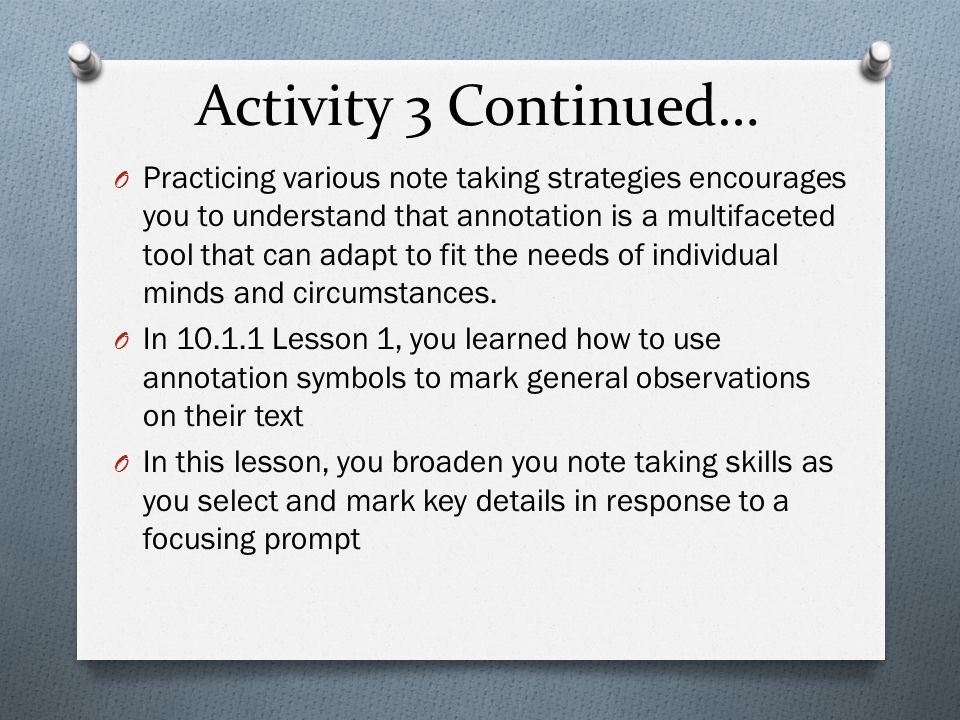 Activity 3 Continued…
