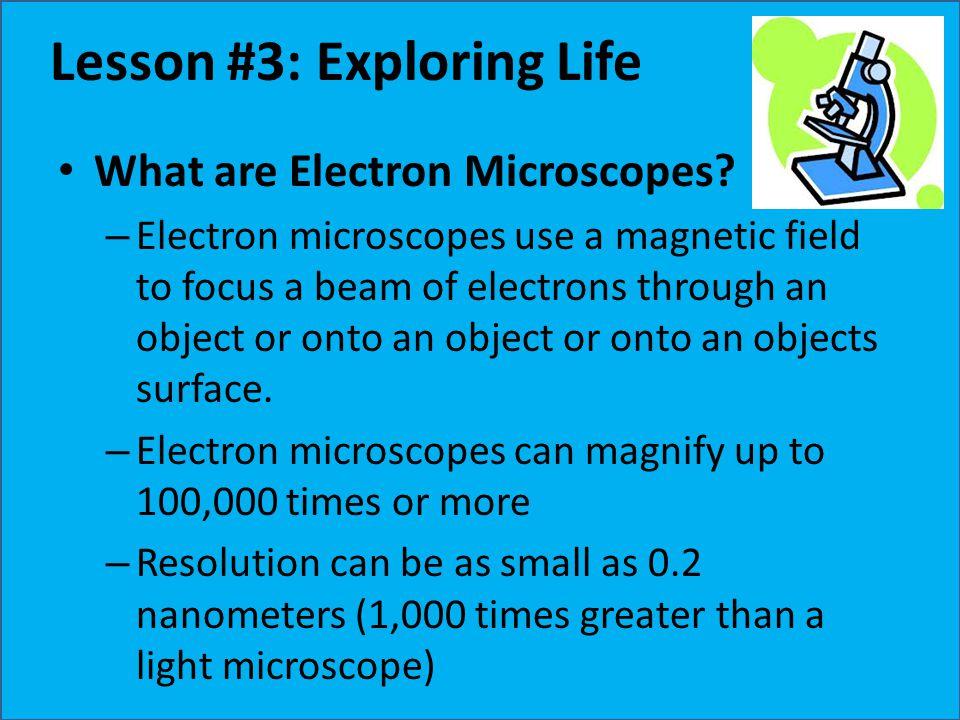 Lesson #3: Exploring Life
