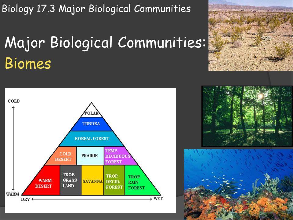 Biology 17.3 Major Biological Communities