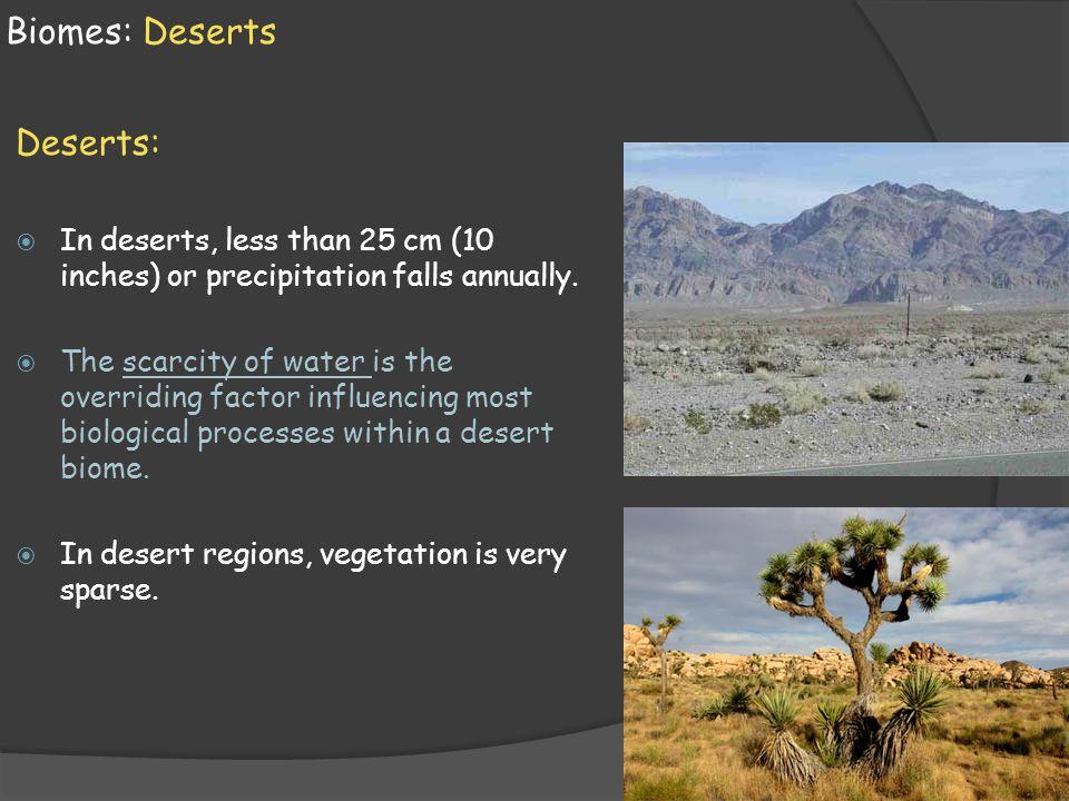 Biomes: Deserts Deserts: