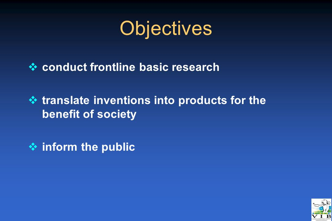 Objectives conduct frontline basic research
