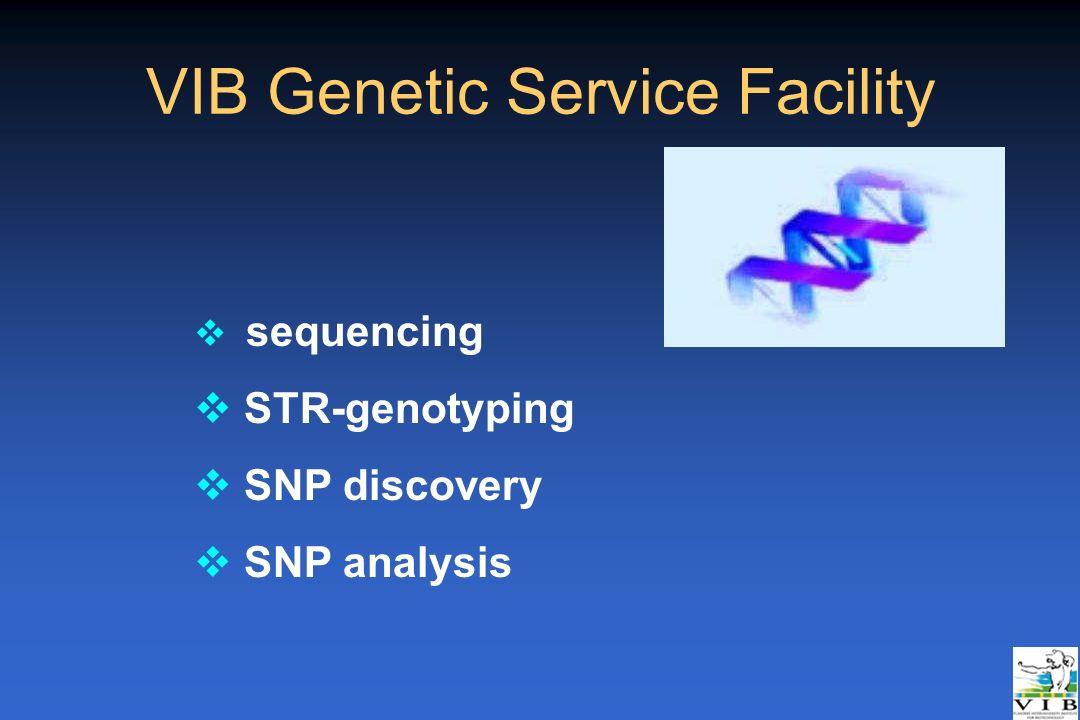 VIB Genetic Service Facility