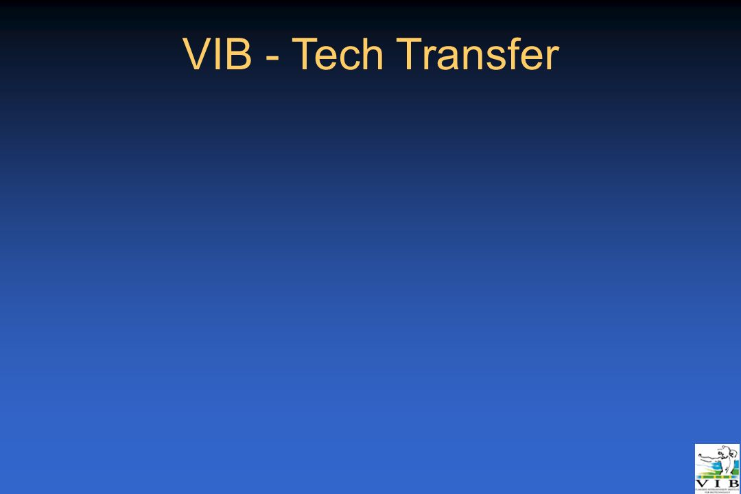 VIB - Tech Transfer _Rotterdam 21/04/05