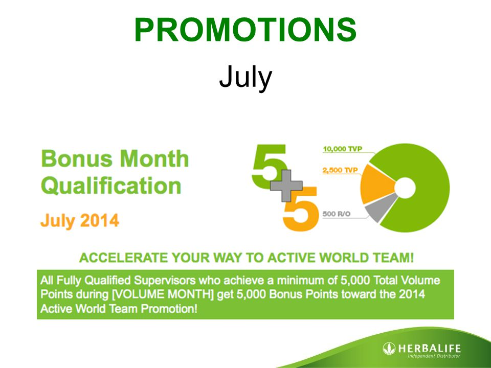 PROMOTIONS July