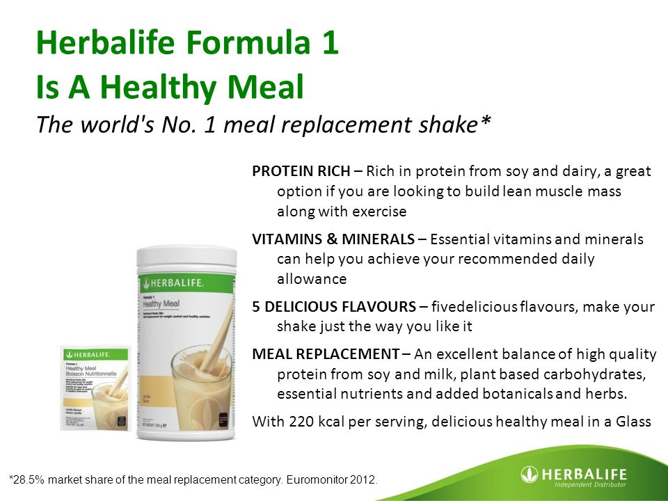Herbalife Formula 1 Is A Healthy Meal