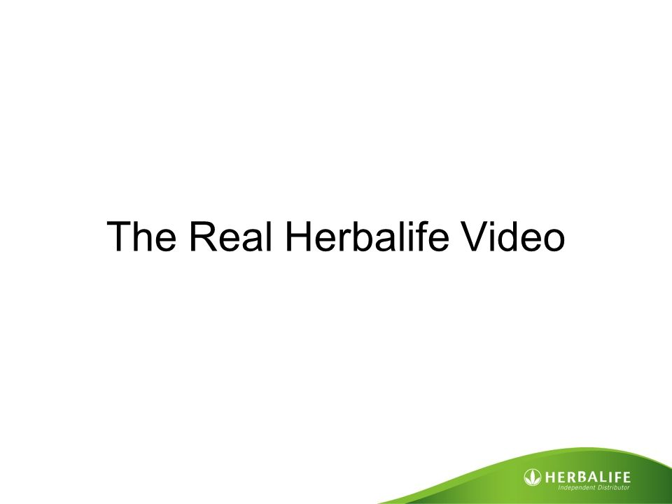 The Real Herbalife Video