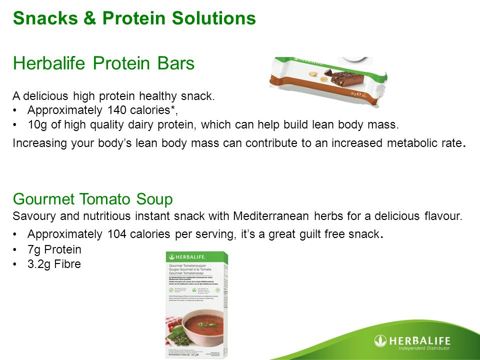 Snacks & Protein Solutions Herbalife Protein Bars