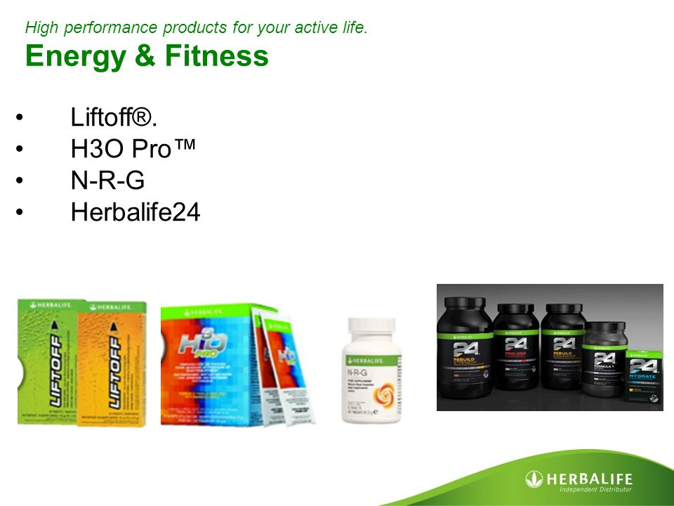Energy & Fitness Liftoff®. H3O Pro™ N-R-G Herbalife24
