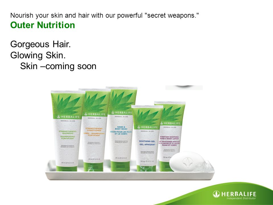 Outer Nutrition Gorgeous Hair. Glowing Skin. Skin –coming soon
