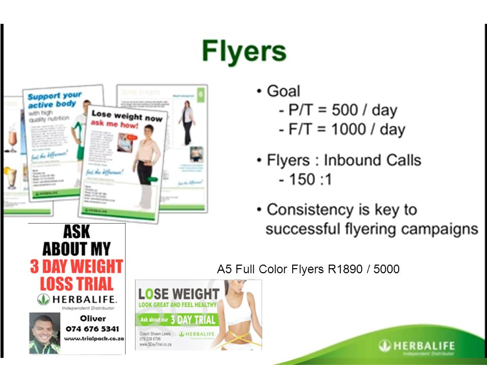 A5 Full Color Flyers R1890 / 5000