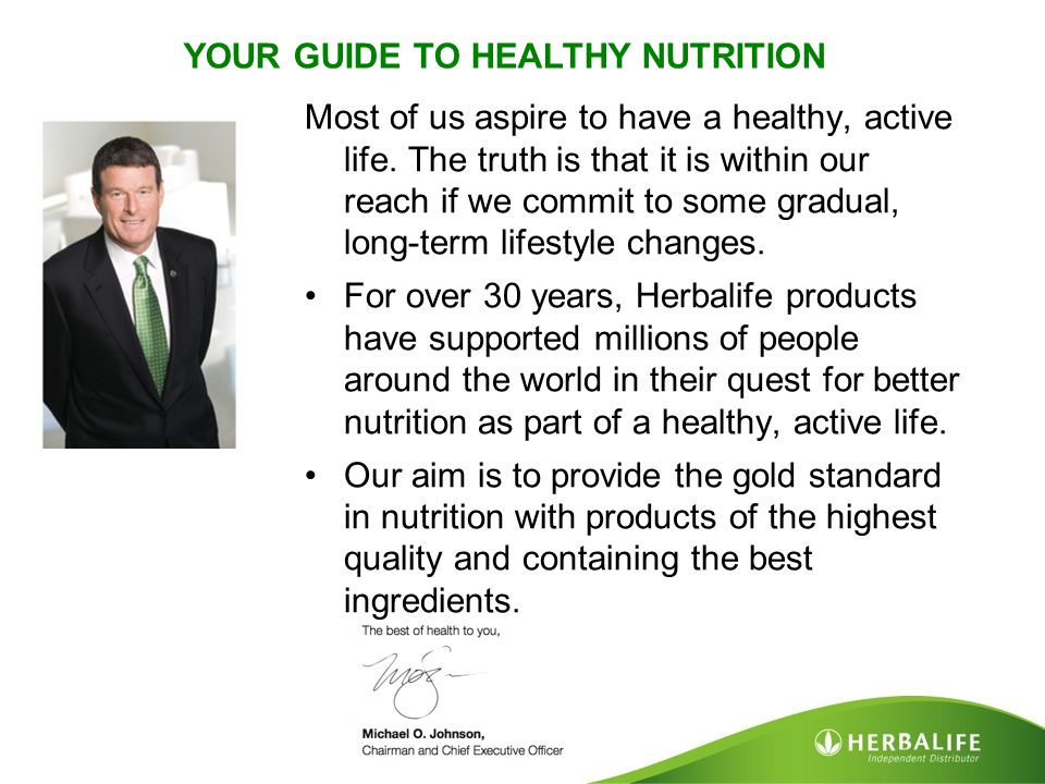 YOUR GUIDE TO HEALTHY NUTRITION