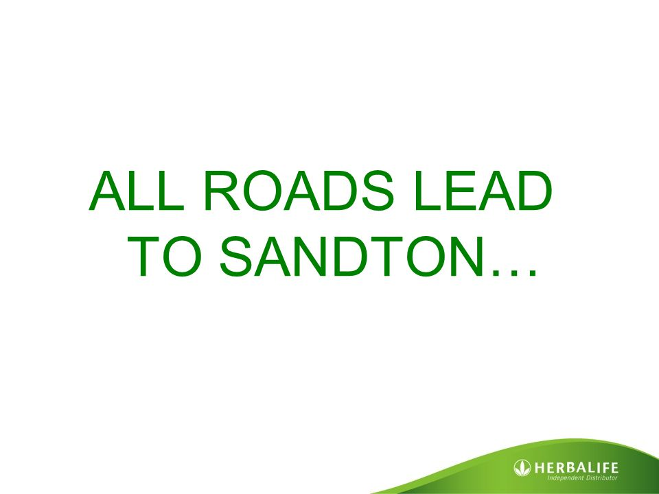 ALL ROADS LEAD TO SANDTON…