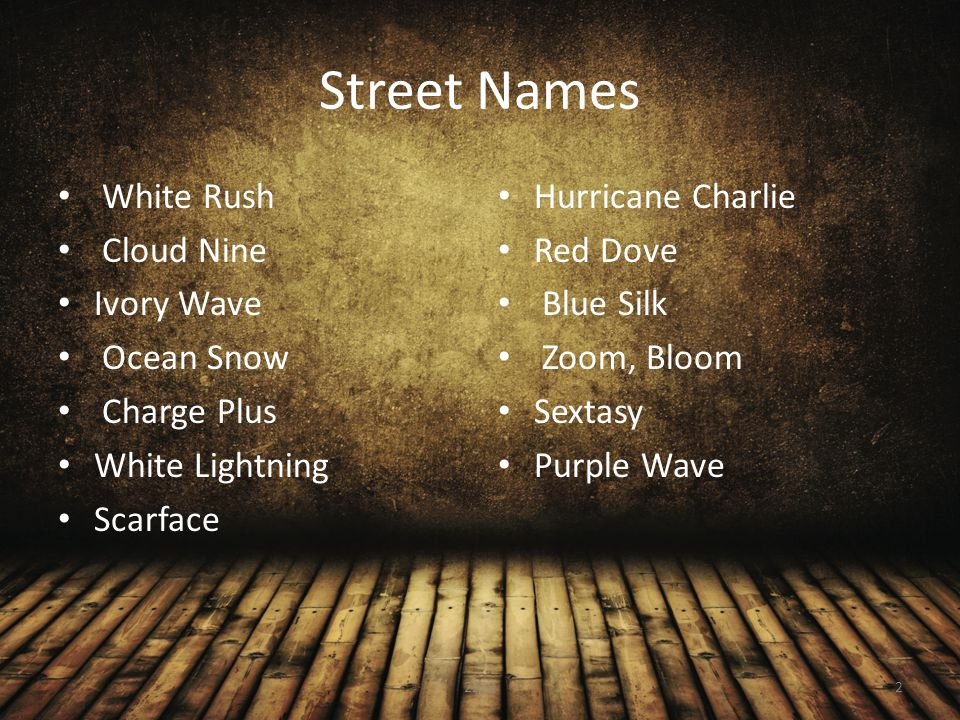 Street Names White Rush Cloud Nine Ivory Wave Ocean Snow Charge Plus