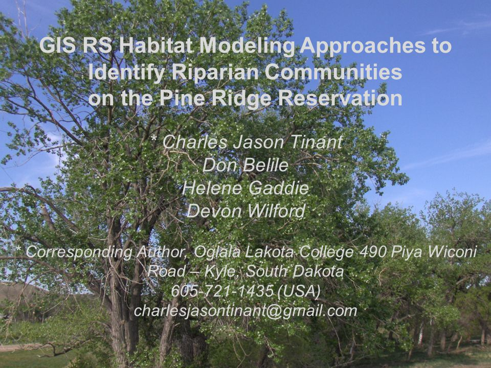 GIS RS Habitat Modeling Approaches to Identify Riparian Communities