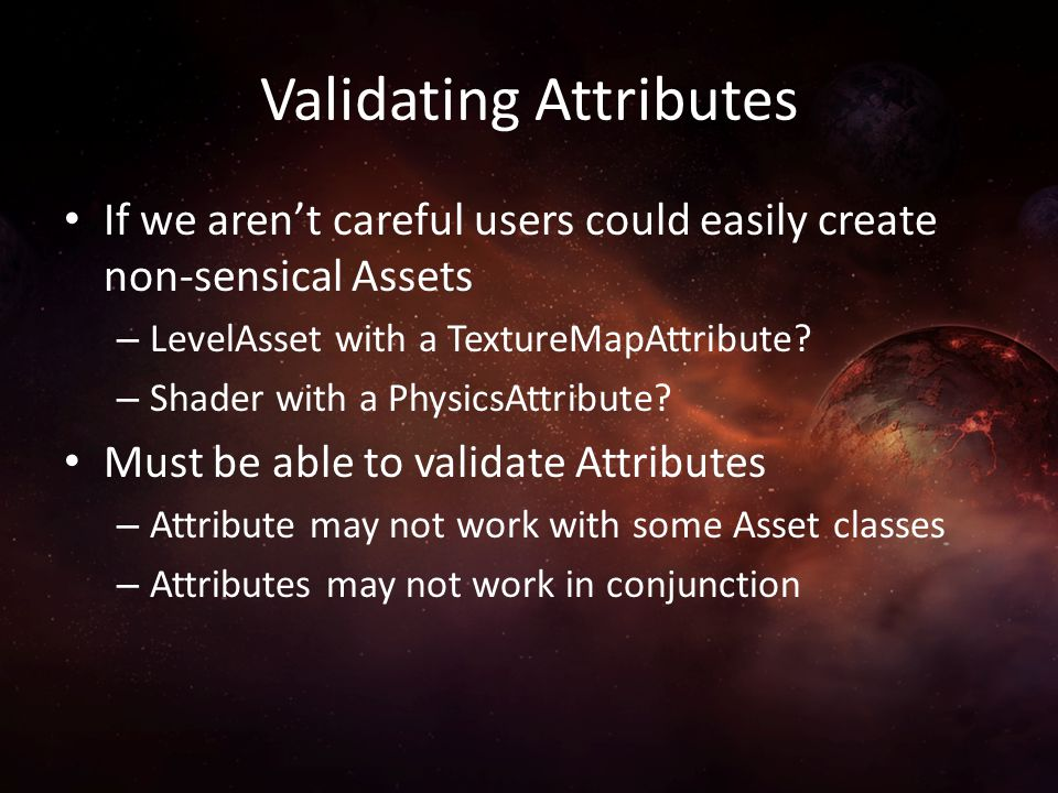 Validating Attributes