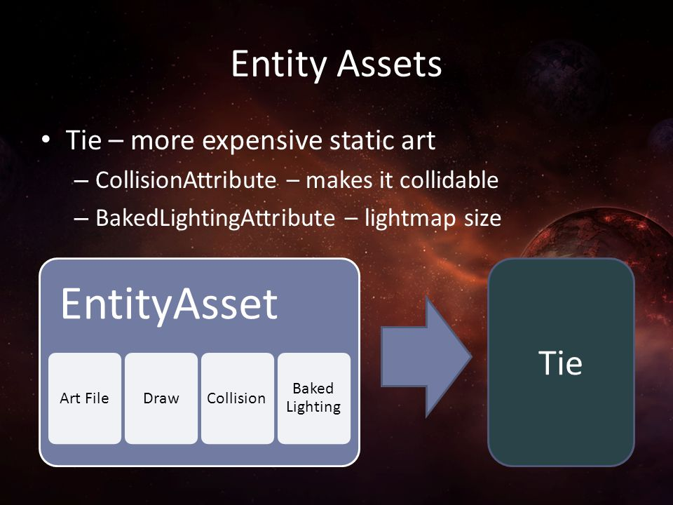 Entity Assets Tie Tie – more expensive static art
