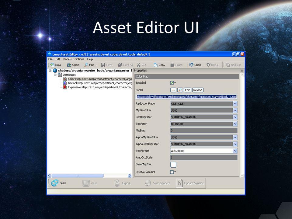 Asset Editor UI