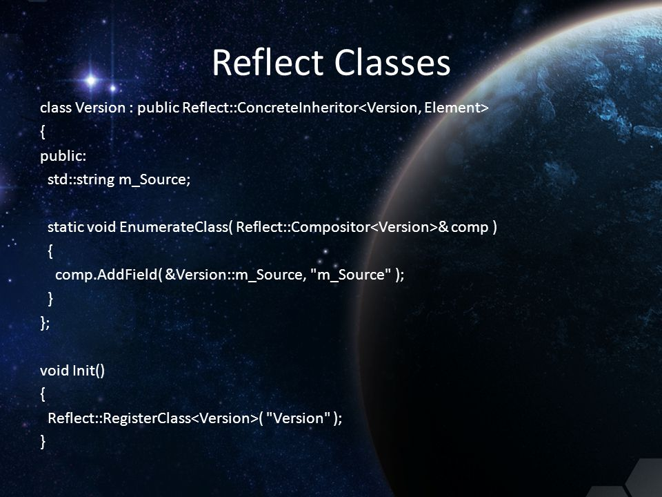 Reflect Classes