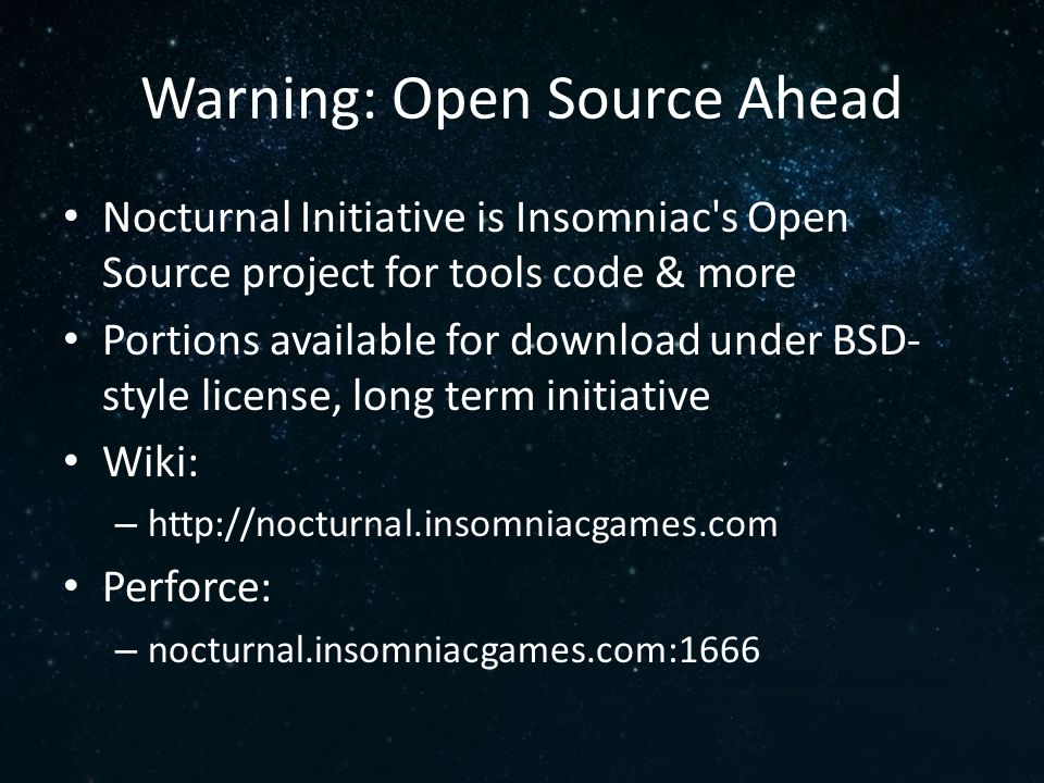 Warning: Open Source Ahead